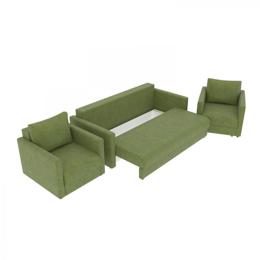 Набор Эдем-7 диван + 2 кресла (арт. 12)