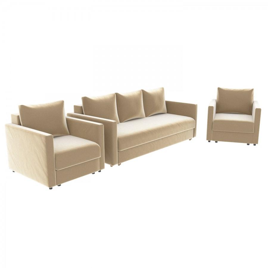 Набор Эдем-7 диван + 2 кресла (арт. 15)