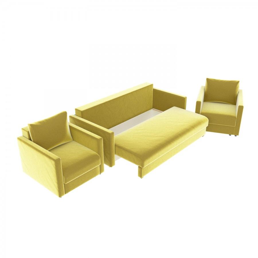 Набор Эдем-7 диван + 2 кресла (арт. 16)