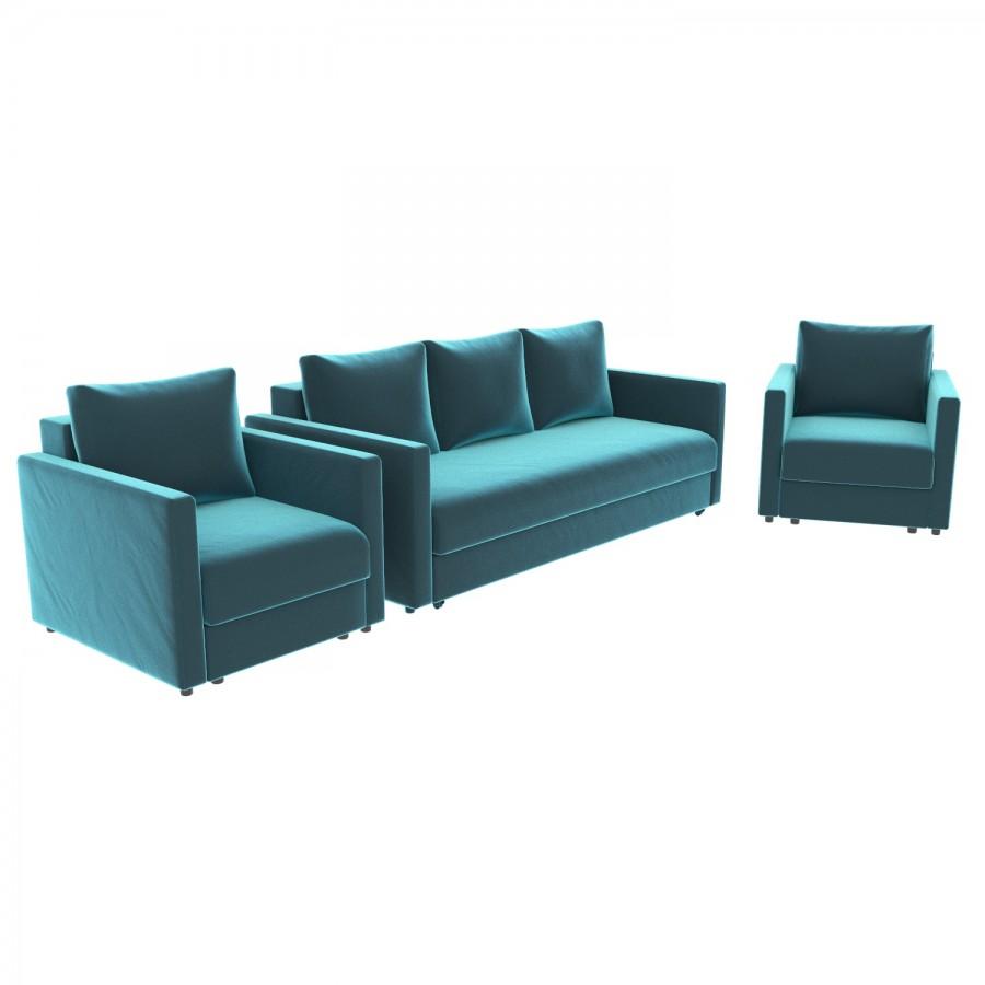 Набор Эдем-7 диван + 2 кресла (арт. 22)