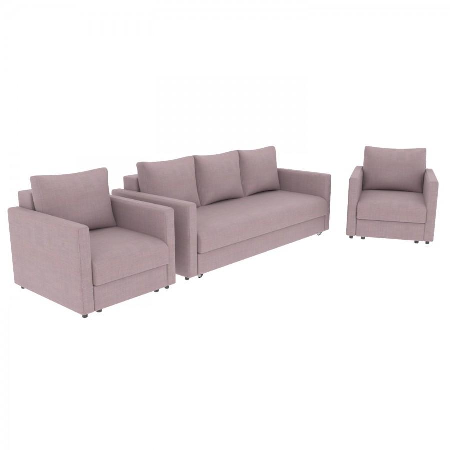 Набор Эдем-7 диван + 2 кресла (арт. 8)